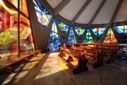 Vetrate Realizzate per la chiesa di Avellino Cuore immacolato realizzate dal Maestro Albano Poli
