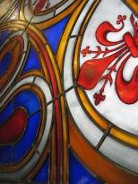 Rosone, vetrata artistica, in Vetro soffiato e piombo realizzato dall'artista Albano Poli