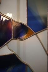 Particolare di una vetrata legata a Tiffany