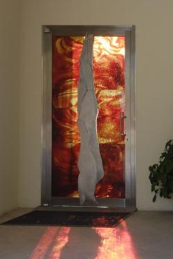 Porta realizzata dal Maestro Albano Poli per la Chiesa dei Santi Francesco e Chiara a Marghera Venezia