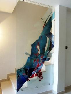 vetrata a collage separè interior design